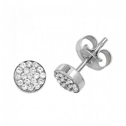 Just Gold Earrings -9Ct Gold Cz Studs, ES311
